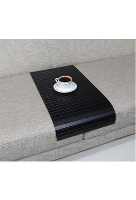 Esser Koltuk Sehpası - Süper Siyah - 30 X 60 Cm