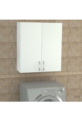 Dekorister Benito Çamaşır Makinesi Üst Dolabı Beyaz