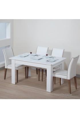 Dessenti Merzuka Yemek Masası Beyaz