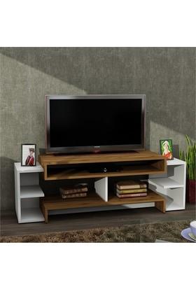 Dekorister Libra Tv Ünitesi Beyaz/Ceviz