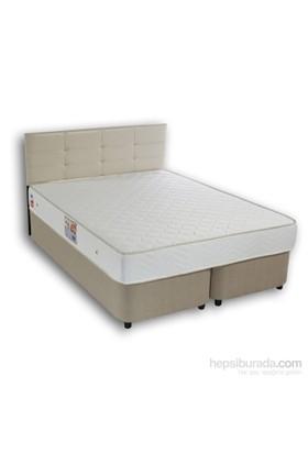 Derman Yatak Çift Kişilik Sandıklı Kumaş Baza + Başlık + Lüx Yatak 160*200