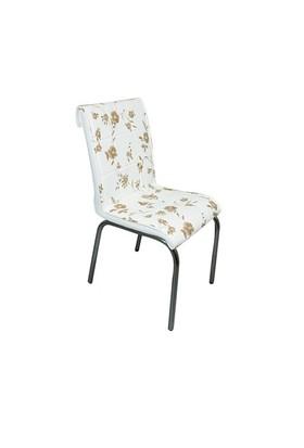 Mavi Mobilya Sandalye Kahve Menekşe Desen Suni Deri (4 Adet)