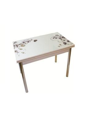 Mavi Mobilya Masa Yandan Açılır Kahve Çiçek Desen