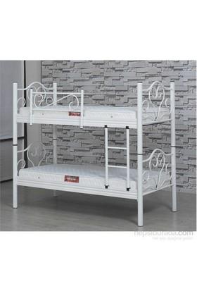 Metalia Gm606 Ranza + Yatak Takımı Beyaz