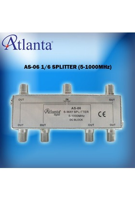 Atlanta AS-06 1/6 Uydu Bölücü (5-1000 MHz)