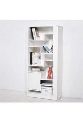 Novi Kitaplık Beyaz