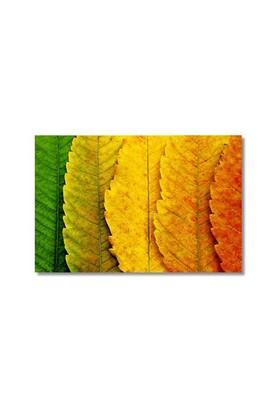 Tictac Sararan Yapraklar Kanvas Tablo - 50X75 Cm