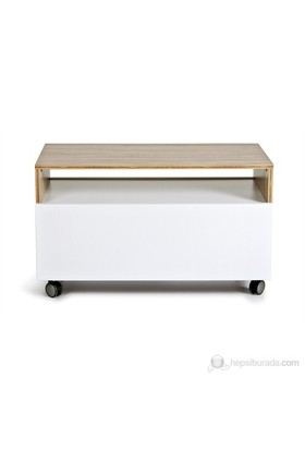 Kenyap 800512 Decoflex İki Kapaklı Orta Sehpa-Samba&Beyaz