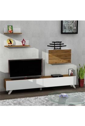 Dekorister Caterina Tv Ünitesi Beyaz-Ceviz
