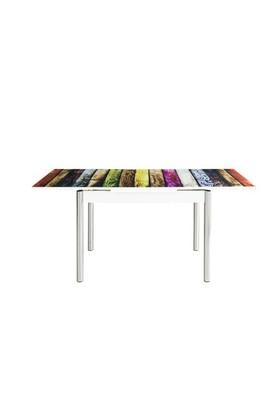 Bestline Colorful Yandan Açılır Cam Masa Ve Sandalye Takımı