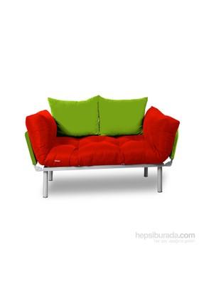 Kombin Kanepe - Metal - Kırmızı -Yeşil