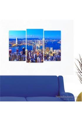 Dekoriza Amerika New York 3 Parçalı Kanvas Tablo 80X50cm