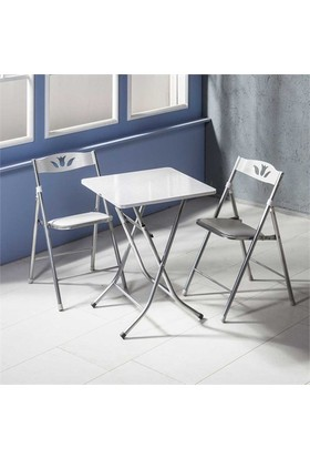 Vural Katlanır Kırma Katlanabilir Masa Sandalye Takımı-60X60