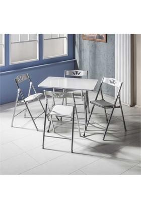 Vural Katlanır Kırma Katlanabilir Masa Sandalye Takımı-60X90