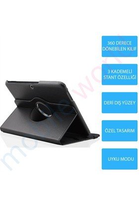 Mobile World Samsung Galaxy Note N8000 360 Derece Dönebilen Siyah Tablet Kılıfı