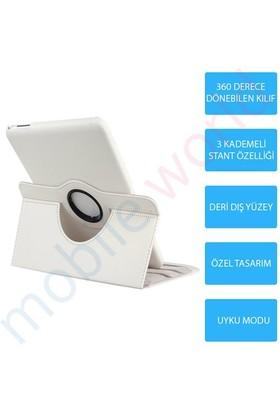 Mobile World Samsung Galaxy T330 360 Derece Dönebilen Beyaz Tablet Kılıfı