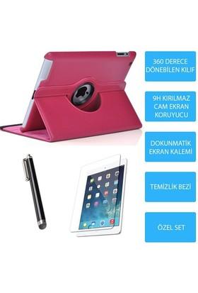 Mobile World iPad Mini 2 Pembe Kılıflı 3 Parça Aksesuar Seti