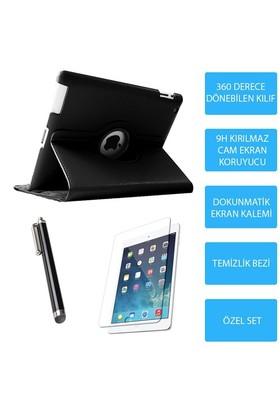 Mobile World iPad 4 Siyah Kılıflı 3 Parça Aksesuar Seti