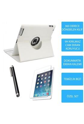 Mobile World iPad 4 Beyaz Kılıflı 3 Parça Aksesuar Seti