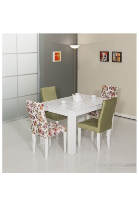 Moda Life Mobetto Manolya Masa Seti Yeşil (Masa+4Adet Sandalye)
