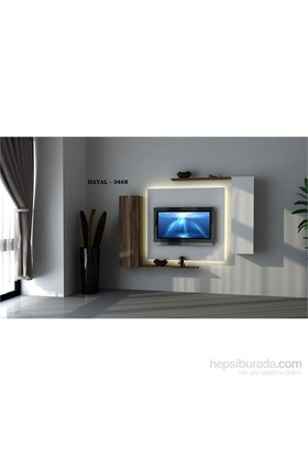 Hayal 3468 Tv Ünitesi Leon Ceviz/Parlak Beyaz