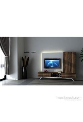 Hayal 124467 Tv Ünitesi Leon Ceviz/Parlak Beyaz
