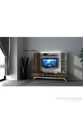 Hayal 124596 Tv Ünitesi Leon Ceviz/Parlak Beyaz