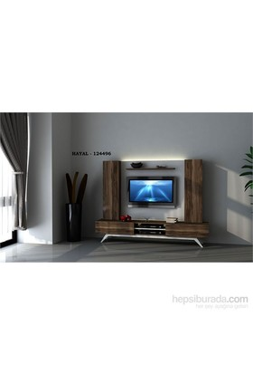Hayal 124496 Tv Ünitesi Leon Ceviz/Parlak Beyaz