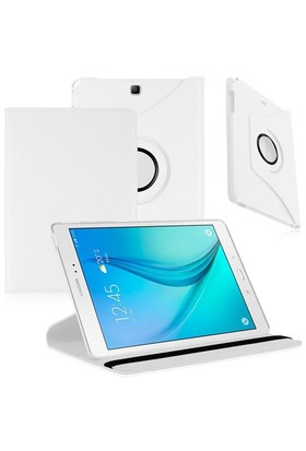 """Case 4U Samsung Galaxy Tab A T550 9.7"""" 360° Dönebilen Beyaz Standlı Tablet Kılıfı"""