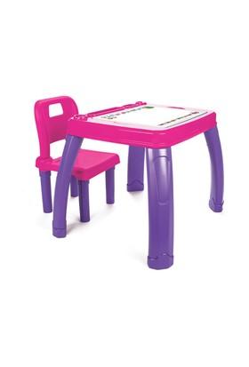 Pilsan Sandalyeli Çalışma Masa-Pembe