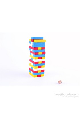 Wooden Toys Ahşap Renkli Jenga Oyunu