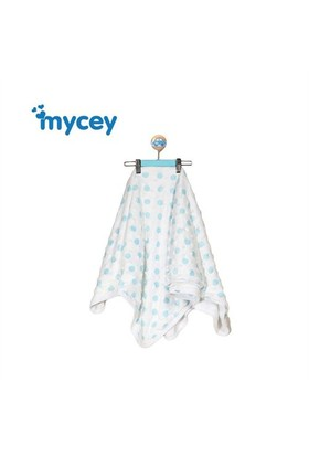 Mycey Bubble Dots Battaniye Mavi