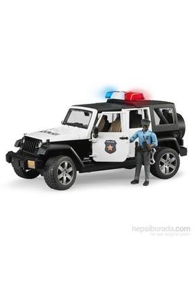 Bruder Jeep Wrangler U.R Polis Aracı Ve Memur - 02526