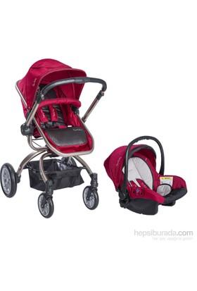 Pierre Cardin PC405 Twist Travel Bebek Arabası Kırmızı
