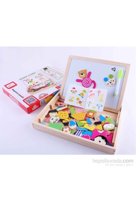 Wooden Toys Magnetic Puzzle Dual Board Set