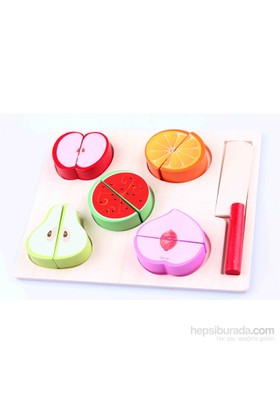 Learning Toys Wooden Fruit Slice Set