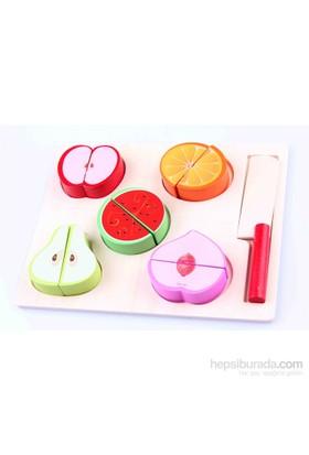 Learning Toys Wooden Fruit Slice Set