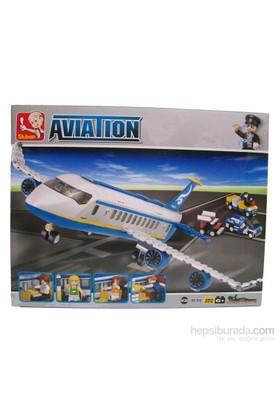 Sluban Kutulu Blok Yolcu Uçağı 483 Parça
