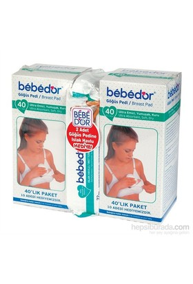 Bebedor Göğüs Pedi 40+40`lı (Islak Havlu Hediye)