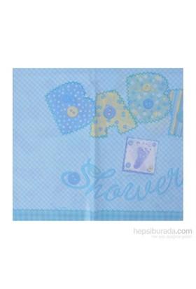 Balon Baby Blue Stitching Masa Örtüsü 137X213 Cm