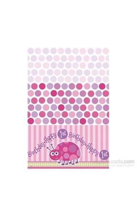 Balon First Birthday Ladybug Masa Örtüsü 120X180 Cm