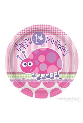 Balon First Birthday Ladybug Tabak 23 Cm