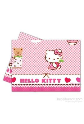 Balon Hello Kitty Hearts Masa Örtüsü 120X180 Cm