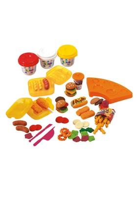 Playgo Oyun Hamuru Set Burger Yapımı 3 Hamurlu Küçük