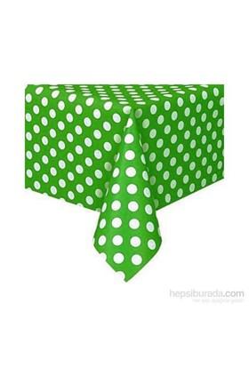 Hepsi Dahice Bebek Doğum Günü Parti Masa Örtüsü - Yeşil Puantiyeli