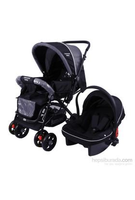 Diamond Baby Seyahat Sistem Bebek Arabası / Siyah