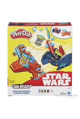 Play Doh Star Wars İkili Araç Seti Luke Skywalker Ve Darth Vader