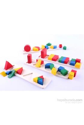 Wooden Toys Geometrical Shape Building Block