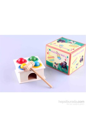 Wooden Toys Hammer Case Vertical Box