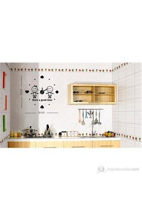 Karin Stickerli Tasarım Saat-80Cmx80cm